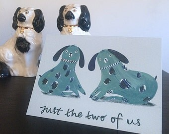 Just the two of us - Staffordshire Dog inspired Valentines Card