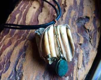 Cattle Tooth Found Objects Necklace