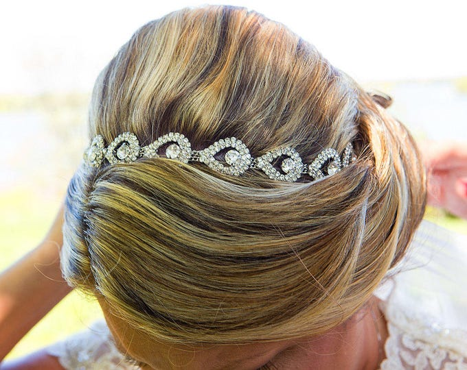 Bridal headband, Rhinestone bridal headband, wedding headpiece, accessories, bridal, wedding, SPARKLE, hair accessory