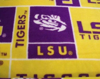 LSU Fleece Fabric Yard