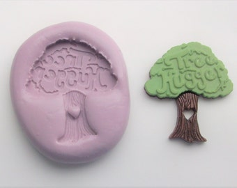 Tree Hugger Mold #122 - silicone mold, crafts mold, jewelry mold, resin mold, porcelain mold, polymer clay mold, kawaii mold, decoden mold