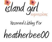 RESERVED for HEATHERBEE00 - Upgrade to Order 1146907645