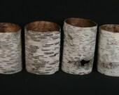 4 Birch Bark Tubes .... Natural Decor