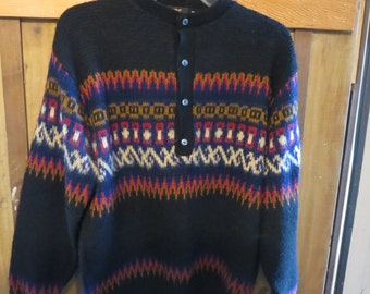AMAZING Vintage Fair Isle Sweater made in Seattle