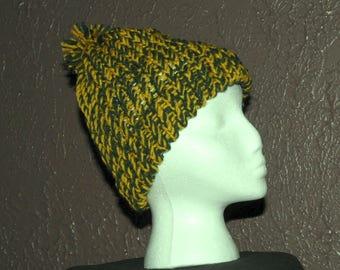 Green/Yellow Knit Cap