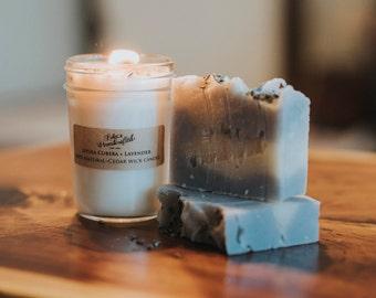 Lavender + Tea Tree- All Natural  Clove- Cold Process VEGAN Artisan Soap