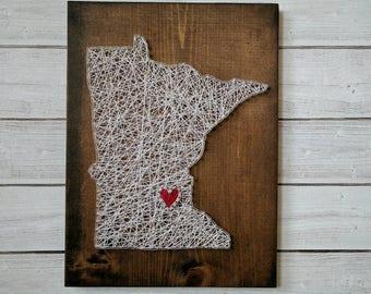 Made to order Minnesota String Art