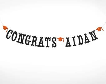 Personalized Congrats Banner // College Graduation // High School Graduation // Class of 2017