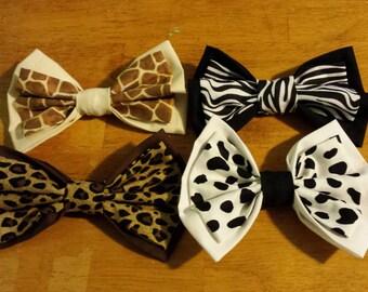 Animal Print Bows