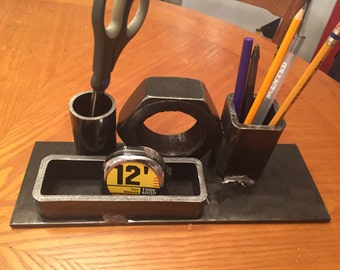 Industrial Steampunk Machine Age Desk Organizer