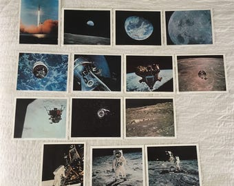 Vintage official NASA lithographs set of 14 used condition