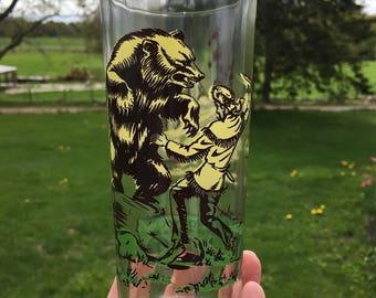Vintage 1950s Retro Davy Crockett glass