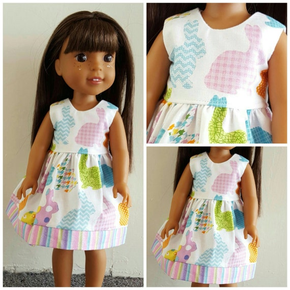 Hello Easter Bunny Wisher Dress 14.5 Inch Doll
