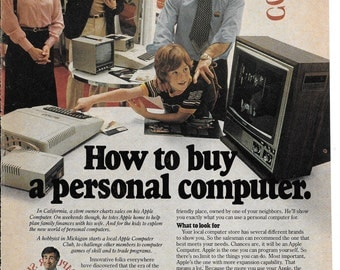 Vintage Apple Computer Ad ~ How to buy a personal computer. ~ 1980