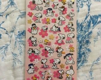 NEW Snoopy Sticker sheet Sakura B