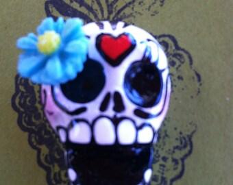 Sugar skull Pin Brooch