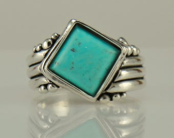 R1086- Sterling Silver Turquoise Ring- One of a Kind