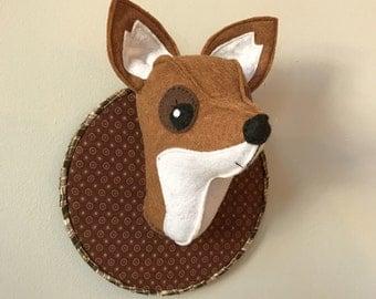 Woodland Theme Faux Fox Taxidermy