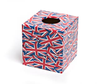 Jubilee Union Jack Wooden Tissue Box Cover