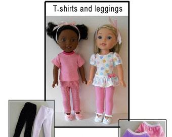 "PDF Doll wardrobe basics pattern fits 14 1/2"" dolls like Wellie Wishers"