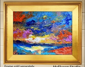 After The Tempest  - Original Abstract Oil Painting Landscape Painting by Claire McElveen - Available  Framed Ready To Hang