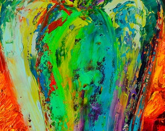 "Fine Art Giclee Print ""Guardian Angel"" From Original Angel Painting by Claire McElveen Signed"