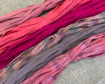 Rose Garden - 150 #8 Sized Primitive Hand Cut Wool Strips for Rug Hooking