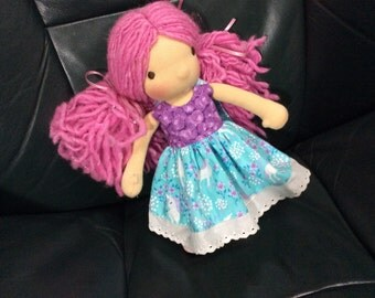 """Tiny Unicorns, 9"""" Waldorf doll clothes fit Pookibell"""
