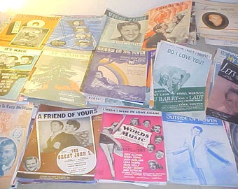 Sheet Music Lot 20s thru 50s Vintage 170ct