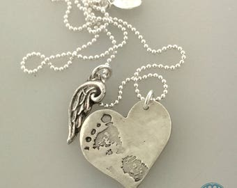 Baby foot print with Angel Wing