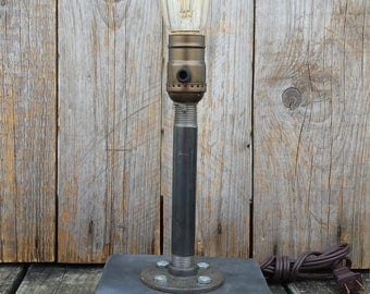 Pipe Dreams, Industrial Desk Lamp, Industrial Light, Table Lamp, Steampunk Lamp Light