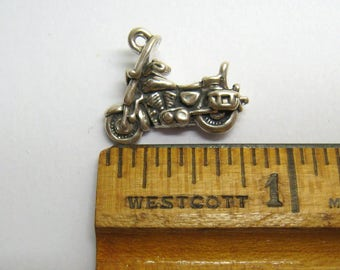 Detailed Motorcycle / Motorscooter Charm, Authentic RIO GRANDE Sterling 3-D Pendant / 3.4 Grams, Free US Shipping