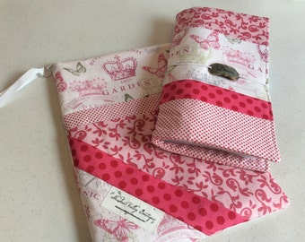 OOAK Custom Travelers Notebook and Pouch Combination - Planner Pouch - Planner Cover