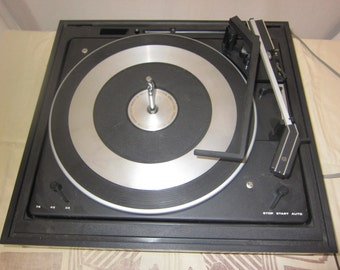 Vintage Glenburn Turntable Record Player Made in England