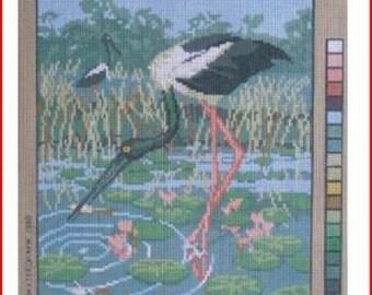New Needlepoint Canvas: Australian Jabiru (Birds)