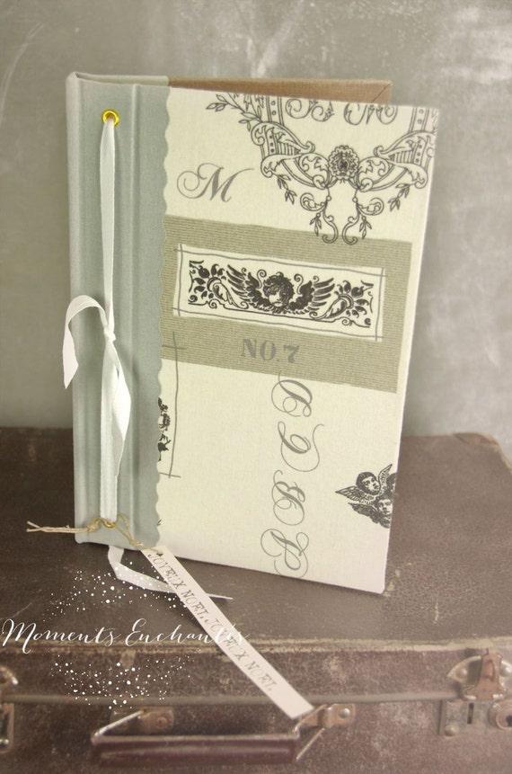Garden book  bird  Guest book toile de jouy angel