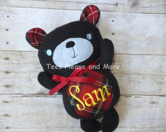 Teddy Bear Stuffed Plushie Personalized