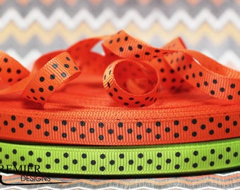 "3/8"" Polka Dot Grosgrain Ribbon"