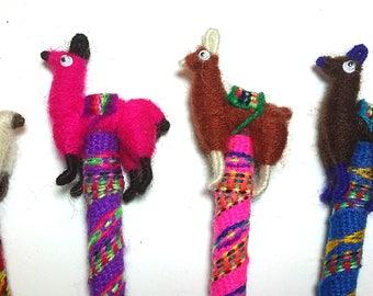 New 4 llama wool pens