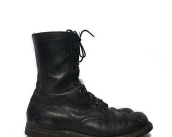 SALE 10 R | 1960's Combat Boots Black Military Army Boots