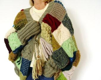 Patchwork Jacket. OOAK Knit Jacket.