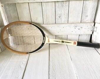 Vintage tennis racket racquet wood Wilson Sport 1960s