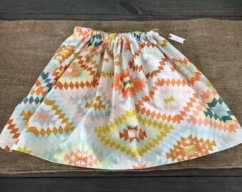 Little Girls Aztec Print Skirt Size 4/5
