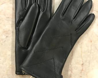 Deadstock Rabbit Fur Lined Driving Gloves