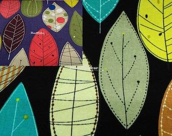 Big leaves, 1/2 yard, pure cotton fabric
