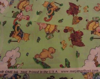 Mary Englebreit Fabric Green Juvenile Cotton Print Mother Goose Theme