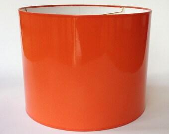 High Gloss Orange Lamp Shades