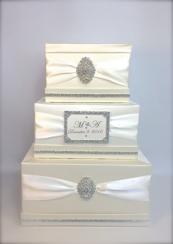 Wedding Gift Lock Box : ... Wedding Card Holder Wedding Card Box Gift Card Box Secure Lock With