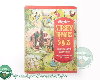 Best Loved Nursery Rhymes and Songs 1970s Printing Hardcover