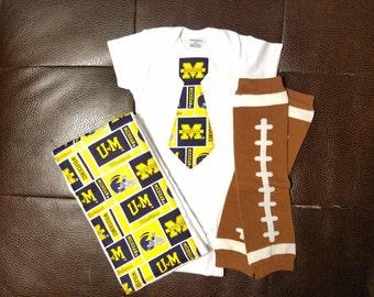 Boutique University of Michigan Baby Gift Set